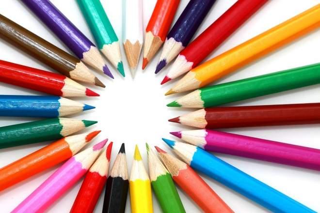 鮮やかな鉛筆