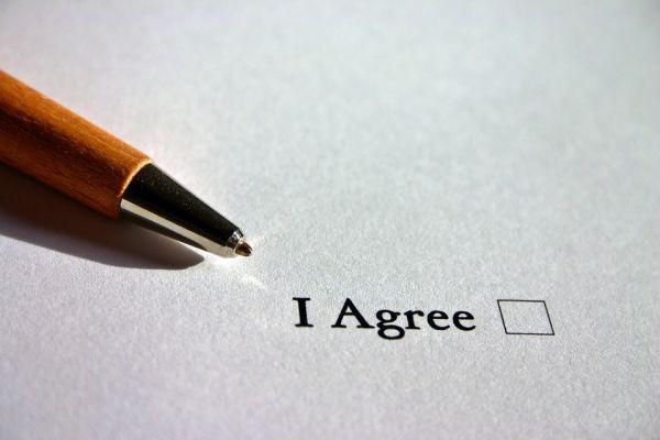 同意の文書