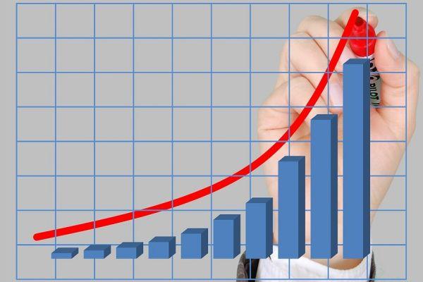 成長を続けるグラフ